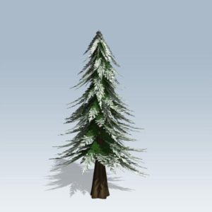 Stylized Conifer Winter