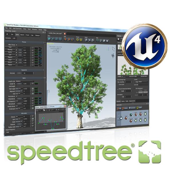 Studio Lighting Ue4: SpeedTree® Modeler For UE4 Subscription