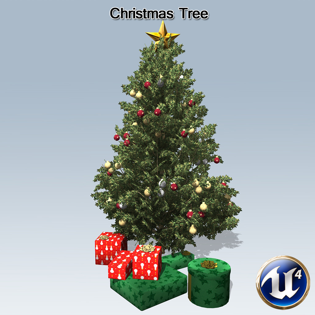 christmas tree ue4 speedtree - 4 Christmas Tree