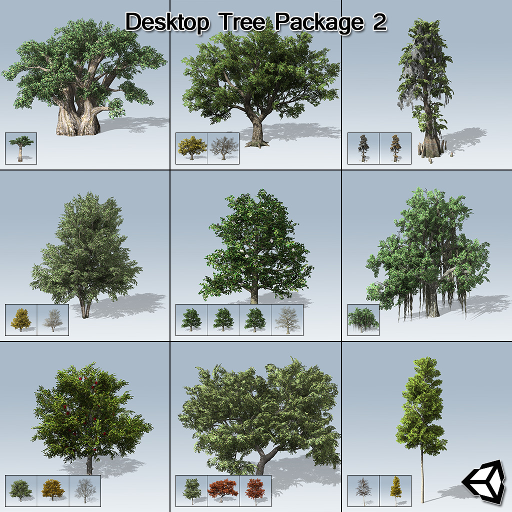Desktop Tree Package 2 (Unity)