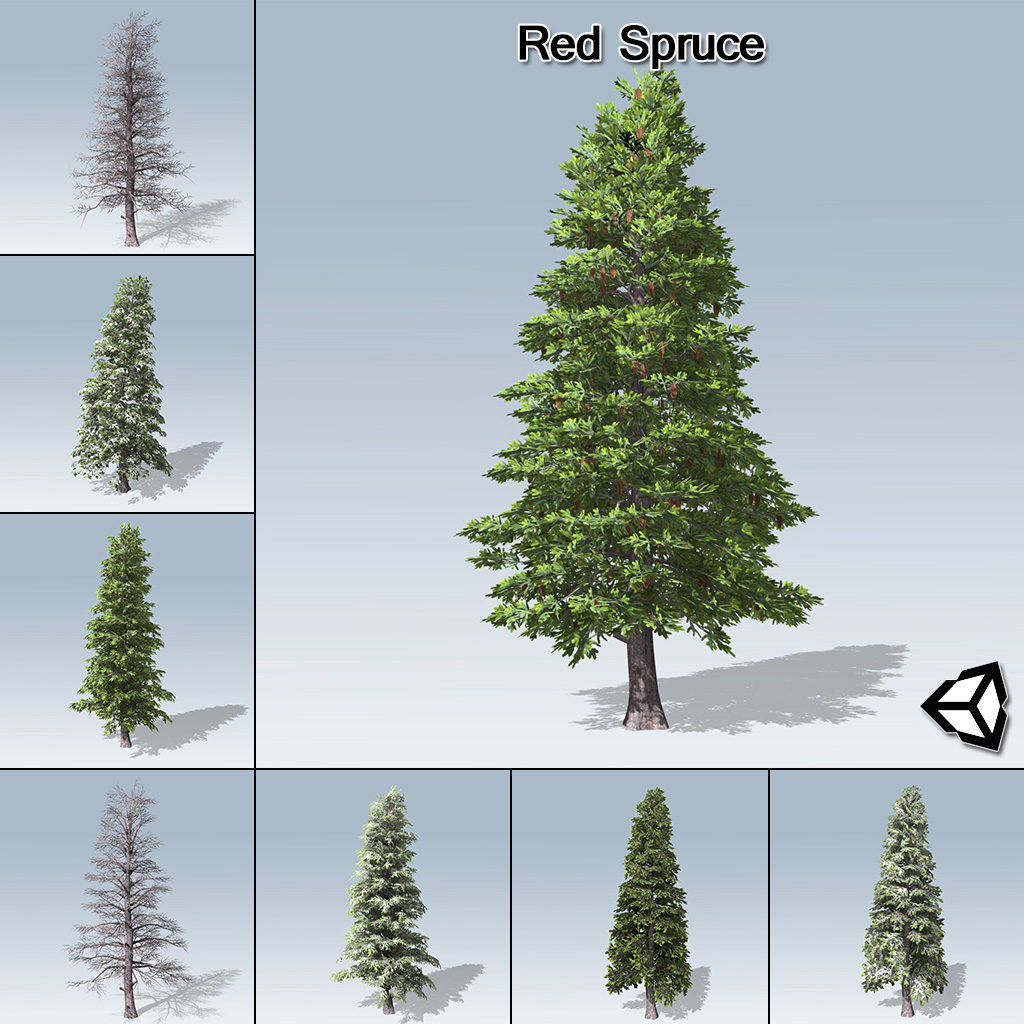 Unity Oregon Map.Red Spruce Unity Speedtree