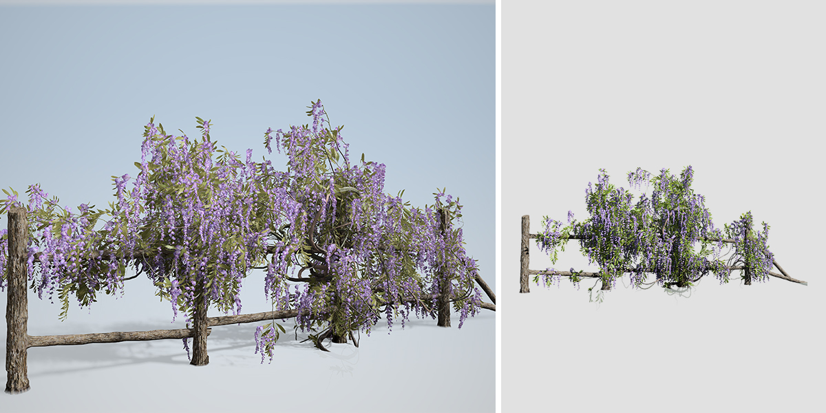 Wisteria Vine Fence Climber Speedtree
